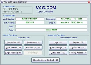 Программа для диагностики автомобилей VAG концерна.